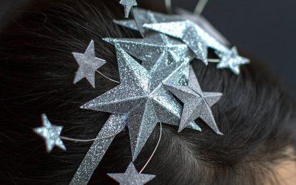 Cintillo con estrellas para recibir el Año Nuevo