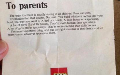 La carta de Lego a los padres