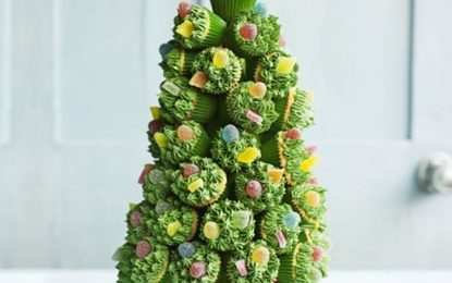 Árbol de Navidad de Mini-Cupcakes