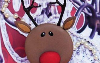 Cupcakes navideños en forma de renos