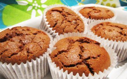 Muffins de plátano y chocolate sin gluten