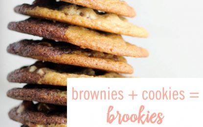 Deliciocas galletas con mitad brownie y mitad vainilla