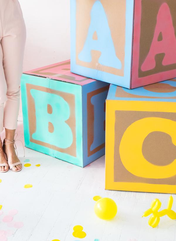 DIY: bloques de bebé gigantes.