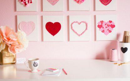 DIY: Cuadros de corazones para San Valentín