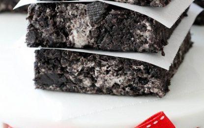Brownies de Oreo con Malvaviscos