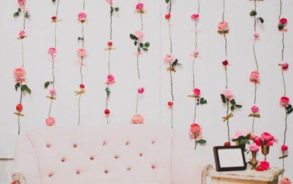 DIY: pared de flores