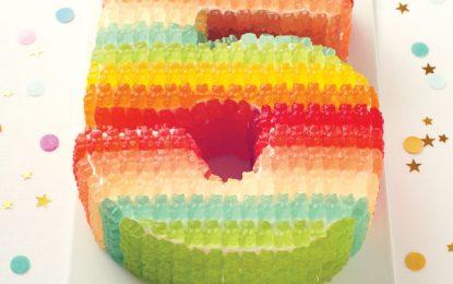 Torta de cumpleaños de ositos de gomitas
