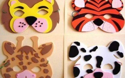 DIY: Antifaces de animales para carnaval