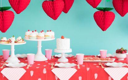 Inspirate con estas ideas para una fiesta con temática de fresa